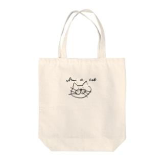 a_k_yuuのi'm a cat Tote bags