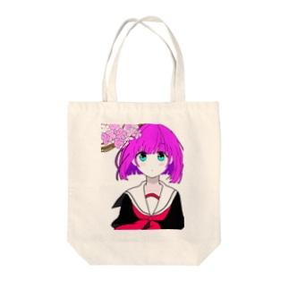 セーラー少女 Tote bags