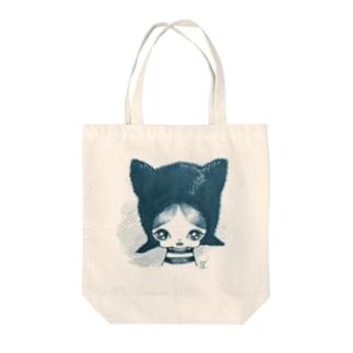 cat boy Tote bags