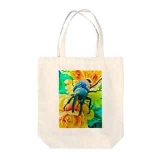 カブトムシ ☆グラントシロカブト☆   Tシャツ Tote bags