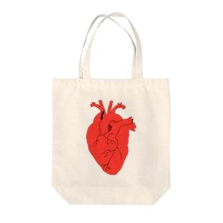 心臓 トートバッグ