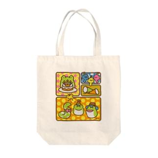 【けこがえる】ぱーてぃー Tote bags
