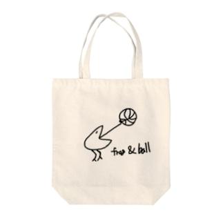 frog & basketball(バスケ) Tote bags