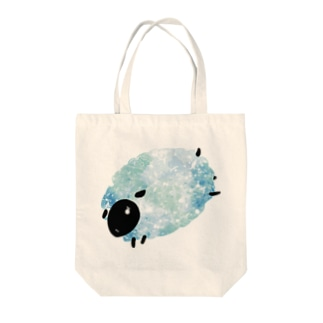 青いメェ Tote bags
