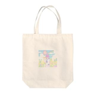 パステルカラーの街 Tote bags