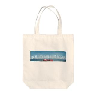 SKY and OCEAN !! Tote bags