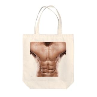 マッチョのシックスパック Tote bags