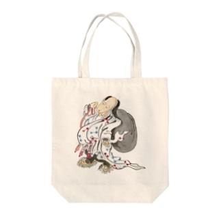 百鬼夜行絵巻 大きな袋を担いだ妖怪【絵巻物・妖怪・かわいい】 Tote bags