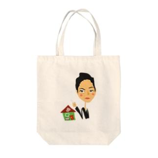 エスミさん、ダメでしょ? Tote bags