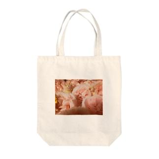 Rose Cat Tote bags