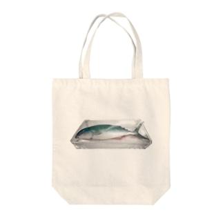 ナマザカナ Tote bags
