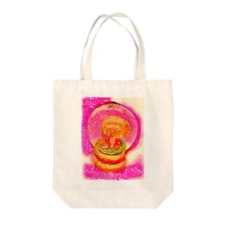 きのこスノーグローブ Tote bags