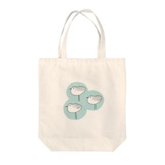 ミユビシギ(青) Tote bags