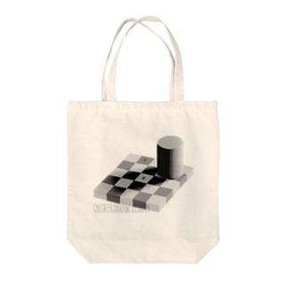 チェッカーシャドー錯視 Tote bags