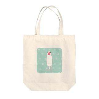 文鳥さん(ドット2) Tote bags