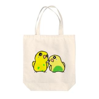 TIKITIKIのピンちゃんとココ Tote bags