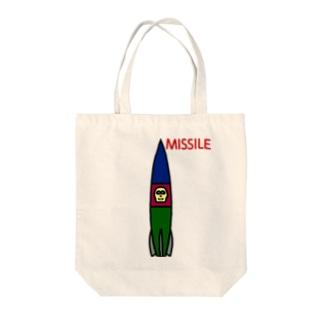 ミサイル Tote bags