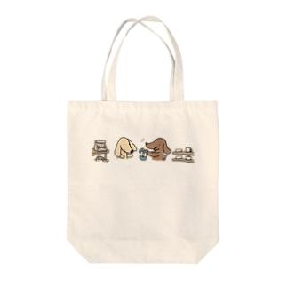 お買物ダックス Tote bags