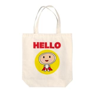 ハロー (Hello) Big Logo Tote bags