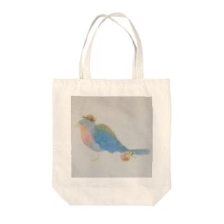 鳥さんの  おとどけもの Tote bags