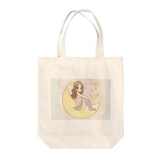 お月さまガール Tote bags