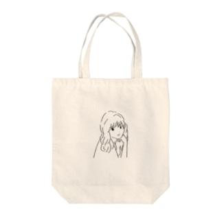 巻髪の子 Tote bags