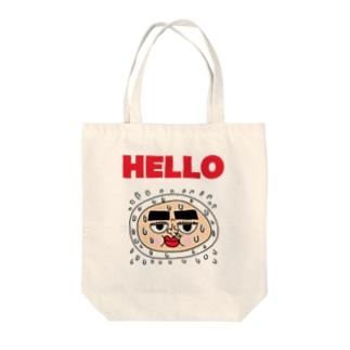ハロー (Hello) Big Logo 2 Tote bags