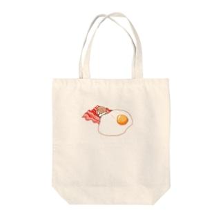 朝食 Tote bags