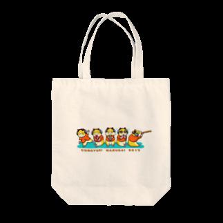雪猫カゥルの雑貨店のコロユキ5匹 Tote bags