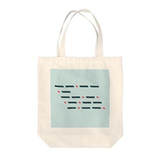 モールス符号 Tote bags