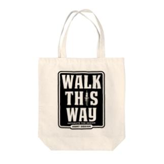 WALK THIS WAY トートバッグ