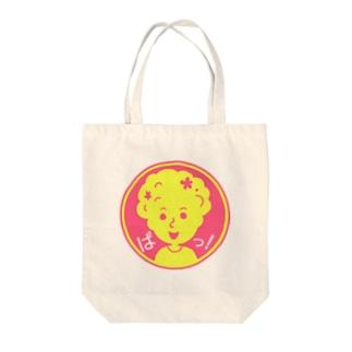 ぱっ!【丸型ツートンカラー】 Tote bags