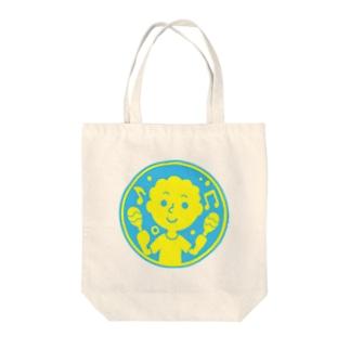 るんるんマラカス【丸型ツートンカラー】 Tote bags