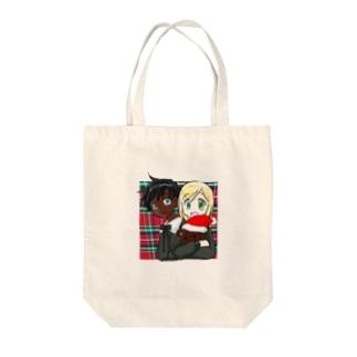 黒白クリスマス Tote bags