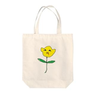 悲劇のひまわり Tote bags