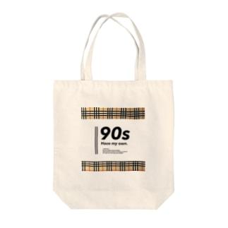 タータンチェック柄 Tote bags