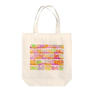 カラフル乾物屋さん Tote bags