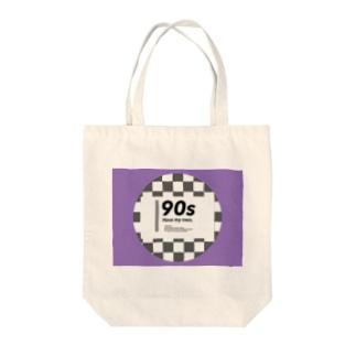 90s purple Tote bags