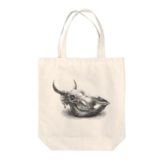 迫力のない牛骨 Tote bags