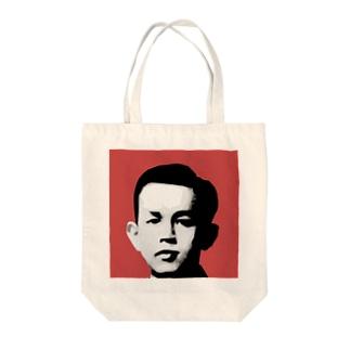 文豪・啄木くん Tote bags