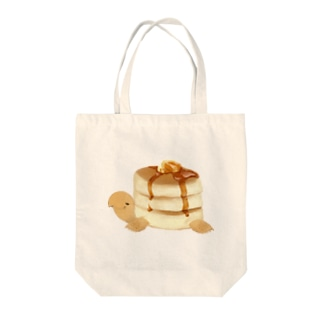 パンケーキリクガメ Tote bags