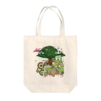 ヌートンドット絵(カラー) Tote bags