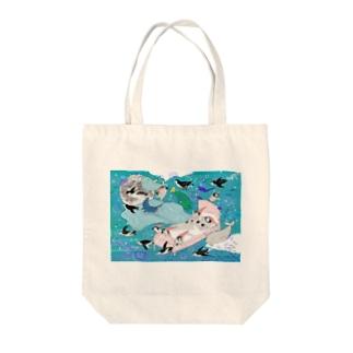 夢にダイブ Tote bags