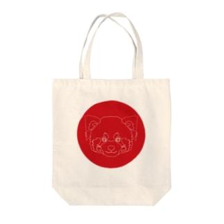 レッサーパンダ(破線) Tote bags