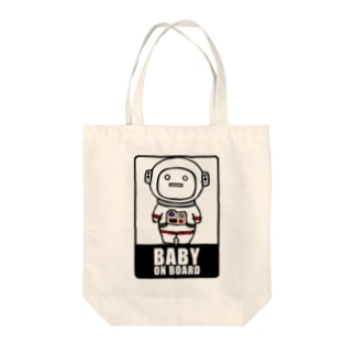 BABY on Board (宇宙服) Tote bags