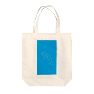ジュゴン(破線) Tote bags