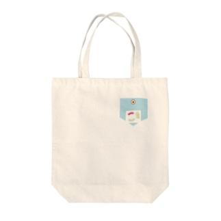 固定できるタイプのコンセント差し込み口ポケット Tote bags