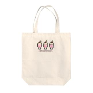 8bit♡ストロベリーシェイク Tote bags