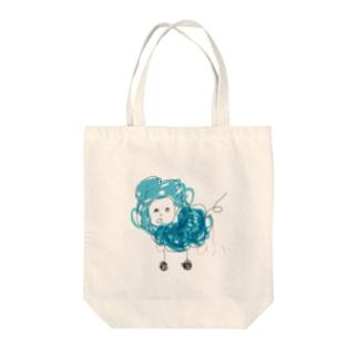 もふもふ羊のトートバッグ Tote bags