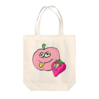 りんごといちご Tote bags